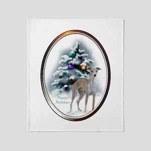 Italian Greyhound Christmas Throw Blanket