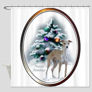 Italian Greyhound Christmas Shower Curtain