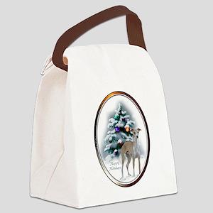 Italian Greyhound Christmas Canvas Lunch Bag