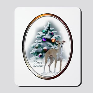 Italian Greyhound Christmas Mousepad