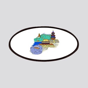 beijing city travel graphic 1 Patches