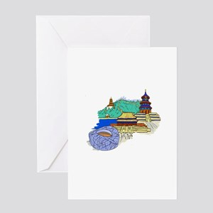 beijing city travel graphic 1 Greeting Card