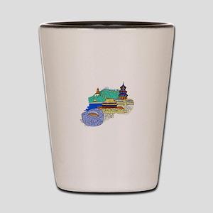 beijing city travel graphic 1 Shot Glass
