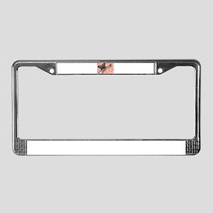 Flying pug love License Plate Frame