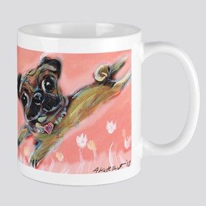 Flying pug love Mug