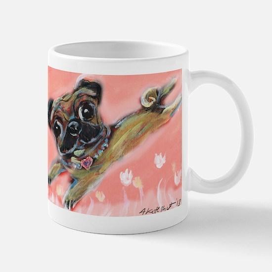 Flying pug love Mug