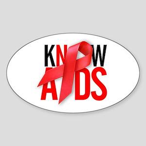 Aids T-Shirts World AIDS Day Oval Sticker