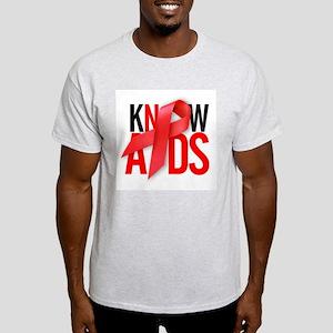 Aids T-Shirts World AIDS Day Ash Grey T-Shirt