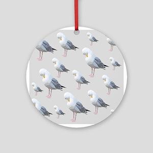 Preening Gulls. Ornament (Round)
