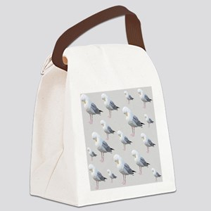 Preening Gulls. Canvas Lunch Bag