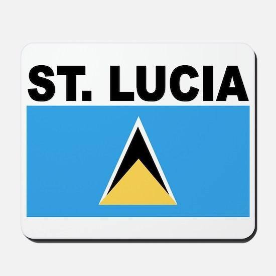 Saint Lucia Flag Mousepad