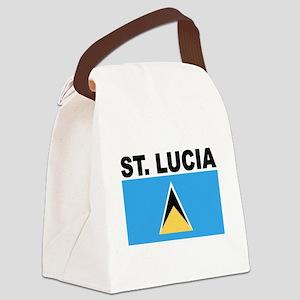 Saint Lucia Flag Canvas Lunch Bag