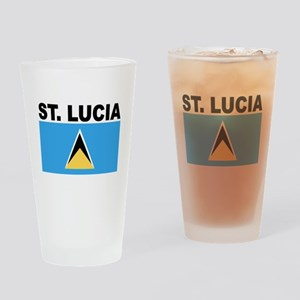 Saint Lucia Flag Drinking Glass