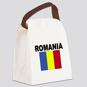 Romania Flag Canvas Lunch Bag