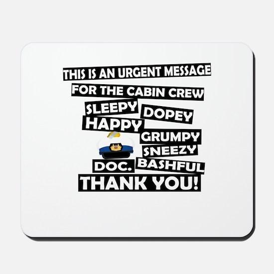 Cabin Pressure - Dwarf names Mousepad