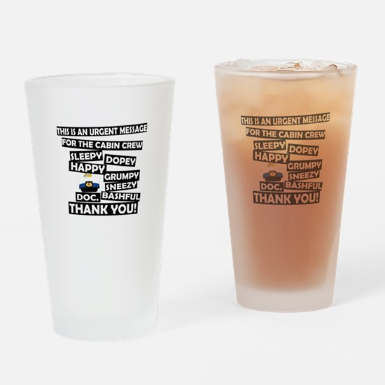 Cabin Pressure - Dwarf names Drinking Glass