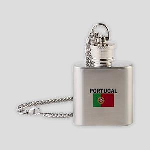 Portugal Flag Flask Necklace