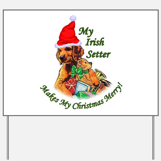Irish Setter Christmas Yard Sign