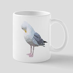 Preening Seagull Bird. Mug