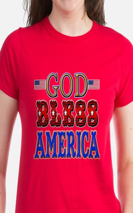 GOD BLESS AMERICA Women's Dark T-Shirt