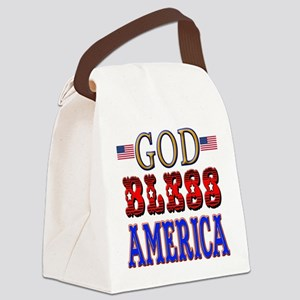 GOD BLESS AMERICA Canvas Lunch Bag