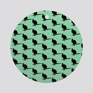 Wallaby Pattern, Green. Ornament (Round)