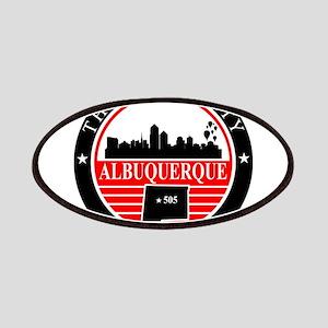 Albuquerque logo black and red Patches