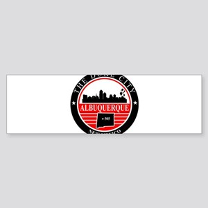 Albuquerque logo black and red Bumper Sticker