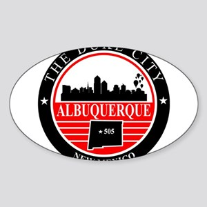 Albuquerque logo black and red Sticker