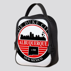 Albuquerque logo black and red Neoprene Lunch Bag