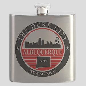Albuquerque logo black and red Flask