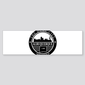 Albuquerque logo black and white Bumper Sticker