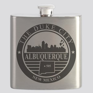 Albuquerque logo black and white Flask