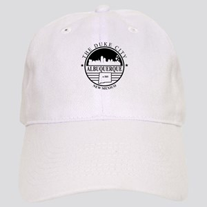 Albuquerque logo white and black Baseball Cap