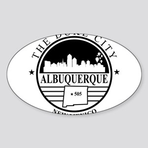 Albuquerque logo white and black Sticker