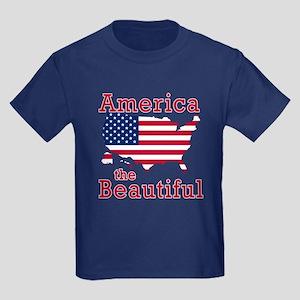 AMERICA the BEAUTIFUL Kids Dark T-Shirt