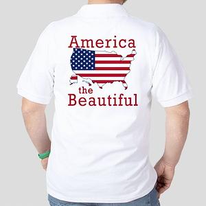 AMERICA the BEAUTIFUL Golf Shirt