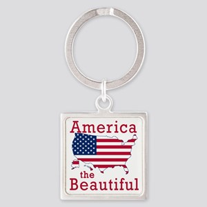 AMERICA the BEAUTIFUL Square Keychain