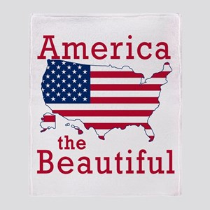 AMERICA the BEAUTIFUL Throw Blanket