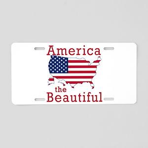 AMERICA the BEAUTIFUL Aluminum License Plate