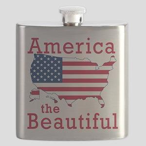 AMERICA the BEAUTIFUL Flask