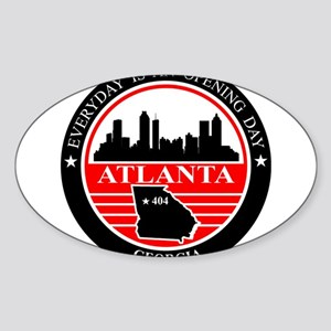 Atlanta logo black and red Sticker