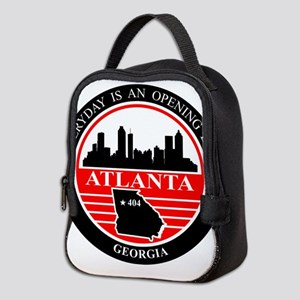 Atlanta logo black and red Neoprene Lunch Bag