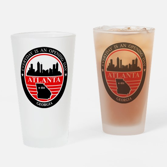 Atlanta logo black and red Drinking Glass