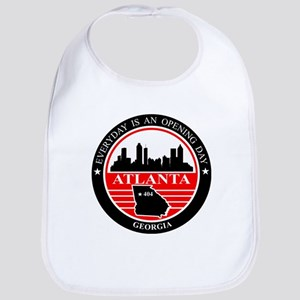 Atlanta logo black and red Bib
