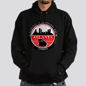 Atlanta logo black and red Hoodie