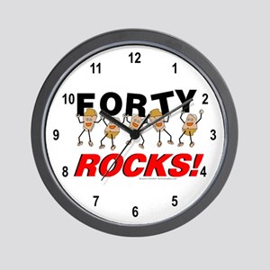 Forty Rocks Wall Clock