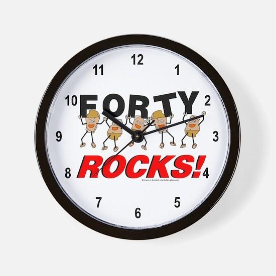 Forty Rocks Wall Clock