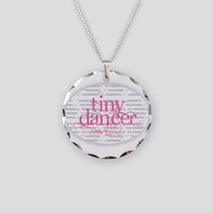 Tiny Dancer - Pink Necklace Circle Charm