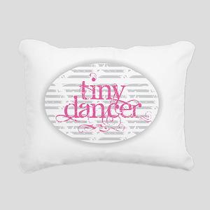 Tiny Dancer - Pink Rectangular Canvas Pillow